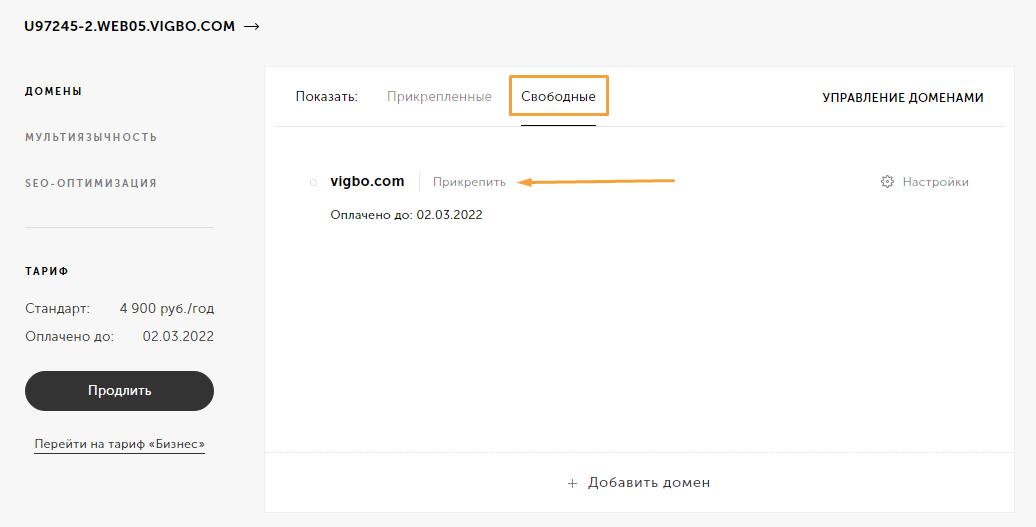 через сколько заработает домен после регистрации на